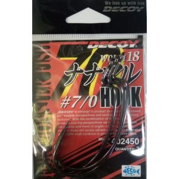 Крючок Decoy Worm18 №7/0  (3шт/уп)