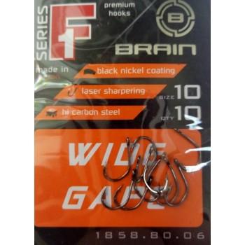 Крючок Brain F1 Wide Gape #10 (10шт/уп)