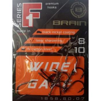 Крючок Brain F1 Wide Gape #8 (10шт/уп)
