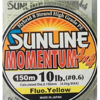 Шнур Sunline Momentum 4x4 150m  0.156mm 10lb/4.2kg