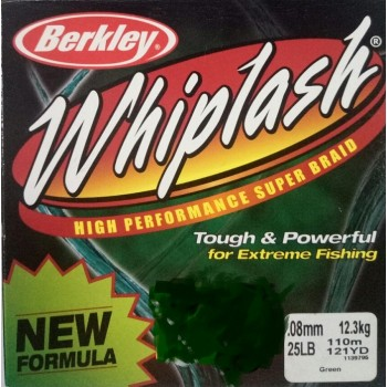 Шнур Berkley Whiplash 0.08mm 12.3kg Green