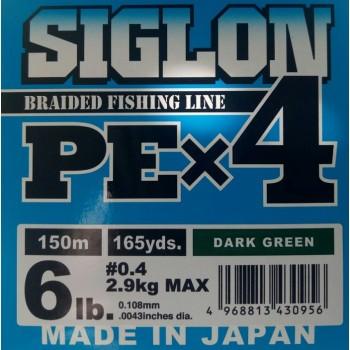 Шнур Sunline Siglon PE x4 150m (темн-зел)#0.4/0.108mm 6lb/2.9kg