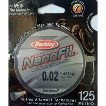 Шнур Berkley NanoFil 125m  0.0357mm 1.415kg