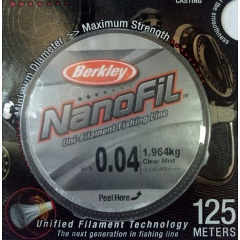 Шнур Berkley NanoFil 125m  0.0545mm 1.964kg