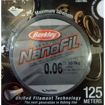 Шнур Berkley NanoFil 125m  0.0723mm 3.357kg
