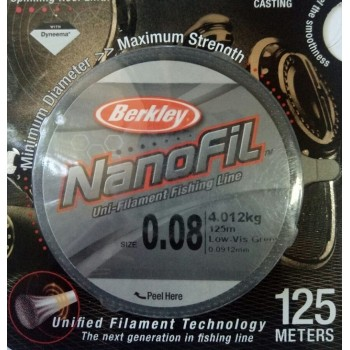 Шнур Berkley NanoFil 125m  0.0912mm 4.012kg