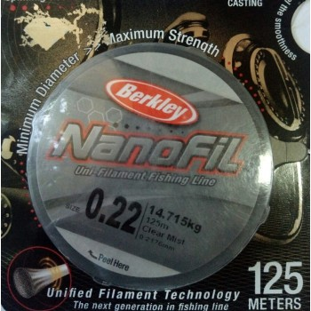 Шнур Berkley NanoFil 125m  0.2176mm 14.715kg