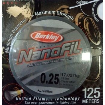 Шнур Berkley NanoFil 125m  0.2463mm 17.027kg