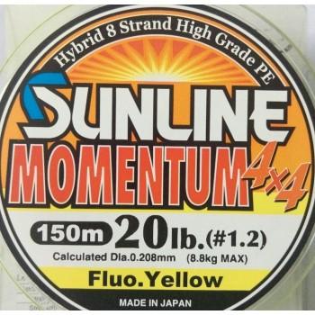 Шнур Sunline Momentum 4x4 150m  0.208mm 20lb/8.8kg